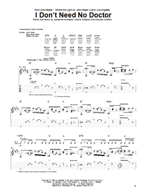 I Don't Need No Doctor | Sheet Music Direct