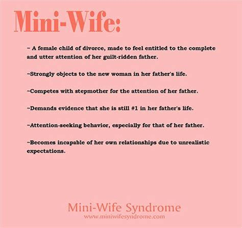 Characteristics of stepdaughters with Mini-Wife Syndrome