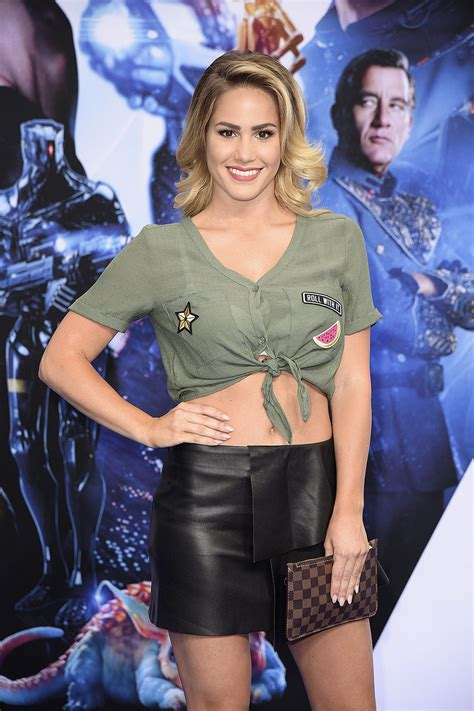 Angelina Heger attends the premiere of Valerian Die Stadt