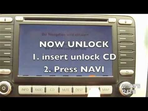 How to update and unlock VW MFD2 DVD system 2013 - YouTube