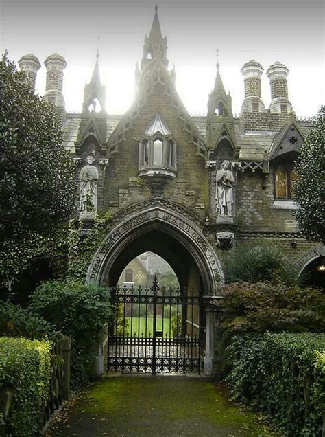 Some gothic cottages on Swains Lane, Highgate, N