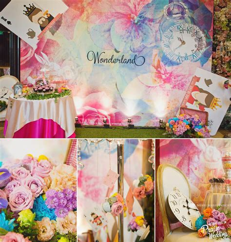 So amazed by this watercolor Alice in Wonderland themed