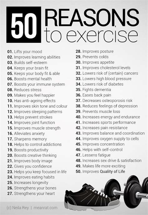 50 Reasons to Exercise! WHAT ELSE DO WE NEED to convince