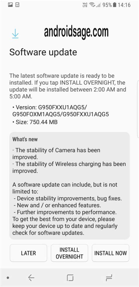 Samsung Galaxy S8 (Plus) latest July 2017 Security patch
