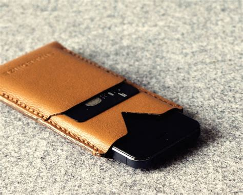 This Stitched Leather iPhone Sleeve Keeps Your Phone Slim