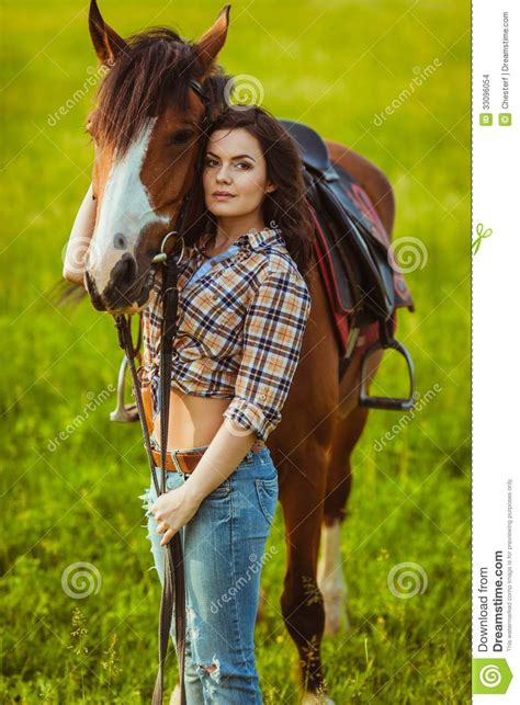 Woman Posing With Horse Stock Images - Image: 33096054