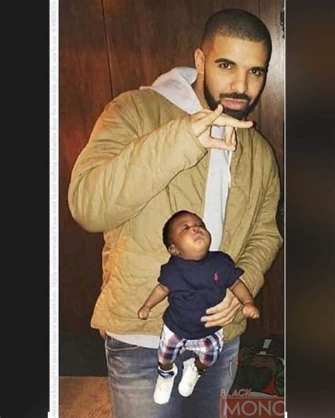 First pic with Drake and his son : Kanye