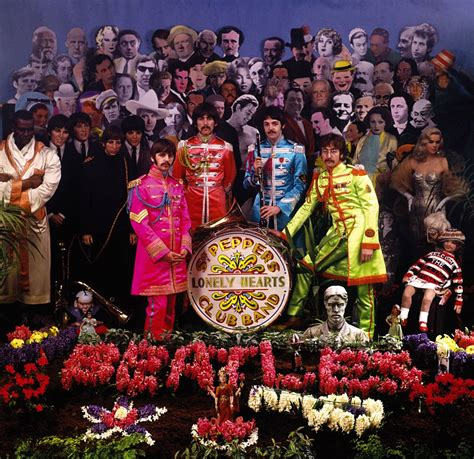 Cover shoot for Sgt Pepper – The Beatles Bible