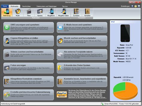 Win-Freeware: iDevice Manager in Version 2