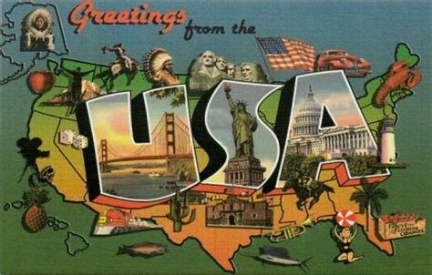 Vintage Collectible United States Postcards - Moodys