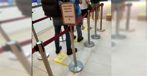 Queue for Buying 4D / Toto to Have Social Distancing As