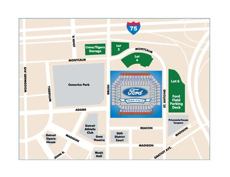 Ford Field - Home of the Detroit Lions NFL Football Team