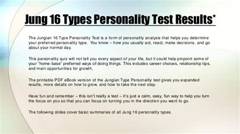 Jungian 16 Personality Types Test Results -- Quiz by