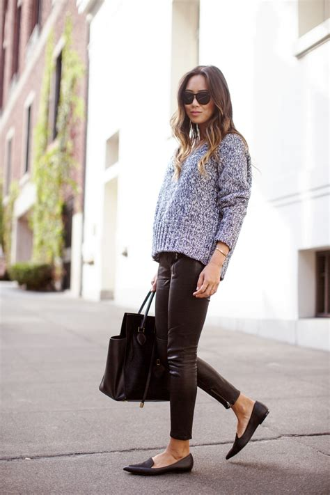 aimee-song-leather-pants-pointy-flats-oversized-sweater-2
