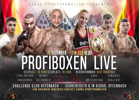 Profiboxen in Offenbach – FIGHTEVENTS