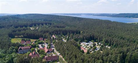 Camping am Brombachsee im Wald-Campingplatz in Pleinfeld