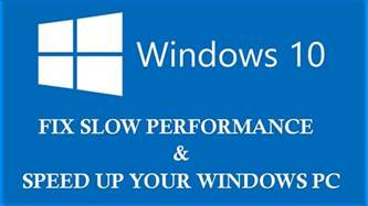 Windows 10: How to fix slow performance issue after free